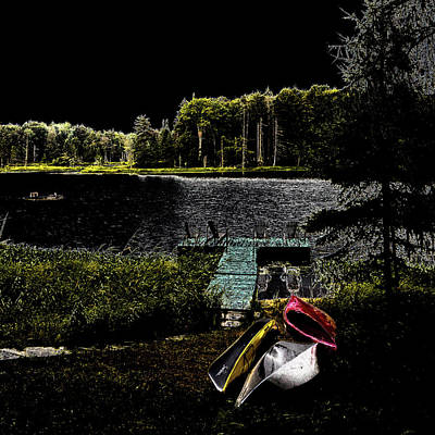 Poster featuring the photograph Relaxing By Moonlight by David Patterson