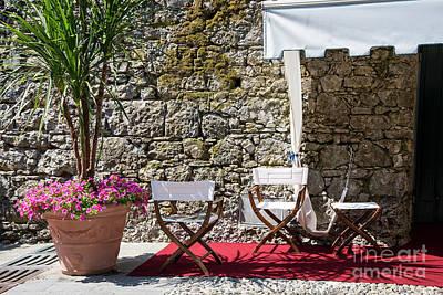 Relaxing In Portofino Italy Poster by Brenda Kean