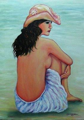 Relaxing On The Beach Poster