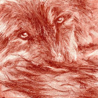 Seedling Wolf 0008 Poster by David Herman