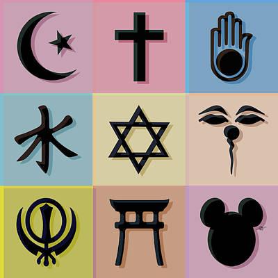 Religion? 2 Poster by Tony Rubino