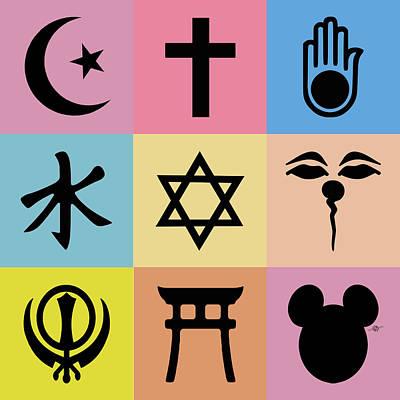 Religion? 3 Poster by Tony Rubino