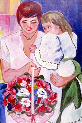Reluctant Flower Girl Poster by Betty Pieper