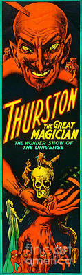 Poster featuring the photograph Remastered Nostagic Vintage Poster Art Thurston The Great Magician Wonder Show 20170415 V2 by Wingsdomain Art and Photography
