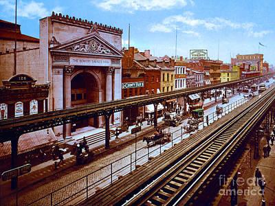 Remastered Photograph Bowery Savings Bank New York City 1898 20170716 Poster