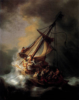 Rembrandt Christ In The Storm On The Sea Of Galilee Poster by Rembrandt