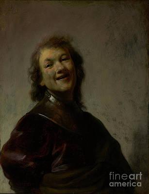 Rembrandt Laughing By Rembrandt Harmensz. Van Rijn Poster