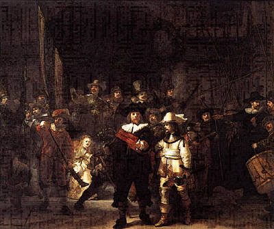 Rembrandt The Nightwatch Poster