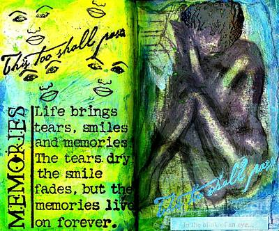 Remembering My Son -  Art Journal Entry Poster by Angela L Walker