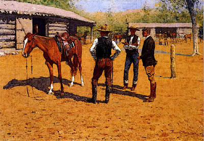 Remington Frederic Buying Polo Ponies In The West Poster