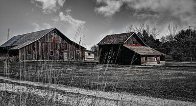 Remnants Of An Old Barn Poster by Deborah Klubertanz