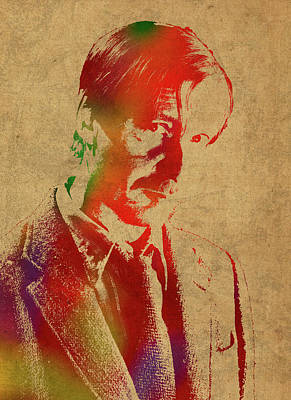 Remus Lupin From Harry Potter Watercolor Portrait Poster