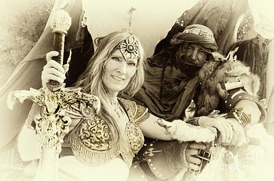 Poster featuring the photograph Renaissance Festival Barbarians by Bob Christopher