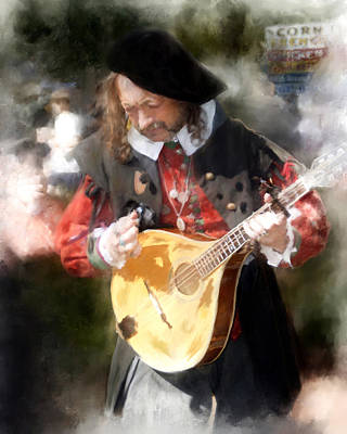 Renaissance Musician Poster by Fred Baird