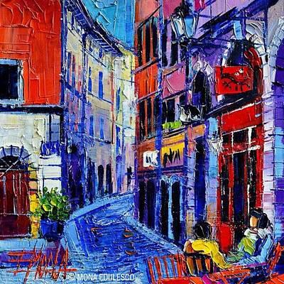 rendez-vous In Vieux Lyon 25x25 Cm Poster