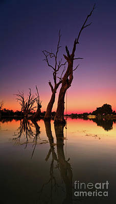 Poster featuring the photograph Renmark South Australia Sunset by Bill Robinson