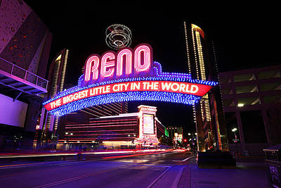 Reno - The Biggest Little City In The World Poster by Shawn Everhart