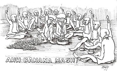 Poster featuring the drawing Repast by R  Allen Swezey