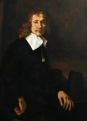 Replica Of Rembrandt's Young Man Seated At A Table Poster