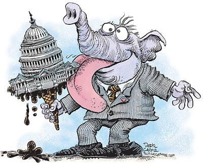 Republicans Lick Congress Poster
