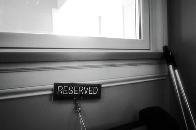 Reserved Poster by Jeanette O'Toole