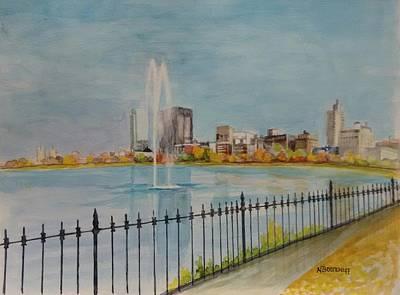 Reservoir In Central Park Poster