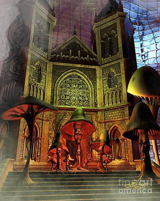 Residence Of The Mushroom Folk Poster by Jutta Maria Pusl