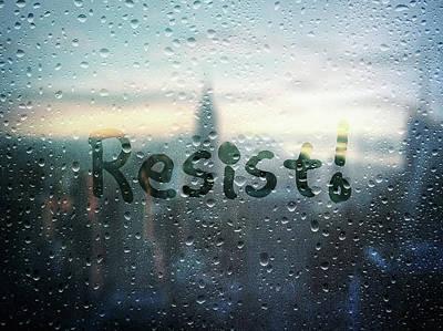 Resistance Foggy Window Poster by Susan Maxwell Schmidt