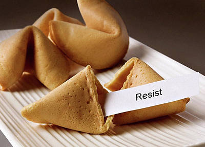 Resistance Fortune Cookie Poster by Susan Maxwell Schmidt