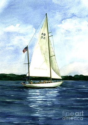 Poster featuring the painting Resolute by Nancy Patterson