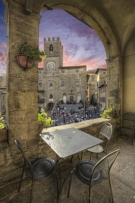 Restaurant In Tuscany Poster by Al Hurley