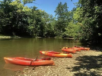 Resting Kayaks Poster