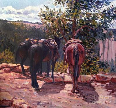 Resting On The Kaibab Trail Poster by Donald Maier
