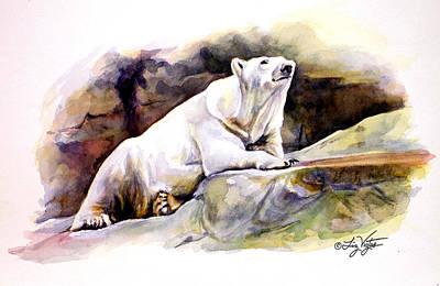 Resting Polar Bear Poster