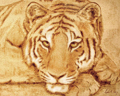 Poster featuring the tapestry - textile Resting Tiger by Dale Loos Jr