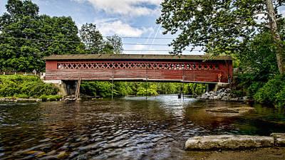 Restoration - Henry Covered Bridge Poster by Stephen Stookey