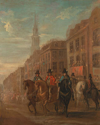 Restoration Procession Of Charles II At Cheapside Poster
