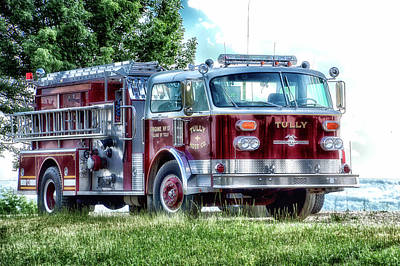 Retired Fire Truck  Engine 13 Village Of Tully New York Poster by Thomas Woolworth