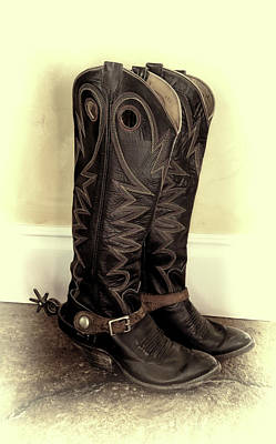 Retired Rodeo Boots Poster