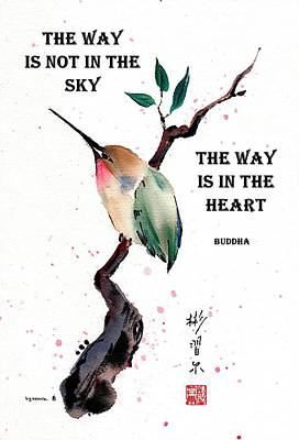 Retreat With Buddha Quote Poster
