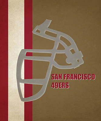 Retro 49ers Art Poster by Joe Hamilton