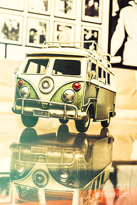 Retro 60s Toy Van Poster by Jorgo Photography - Wall Art Gallery