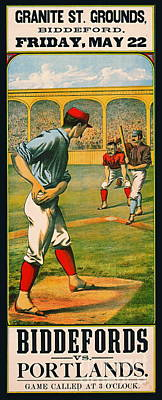 Retro Baseball Game Ad 1885 A Poster by Padre Art