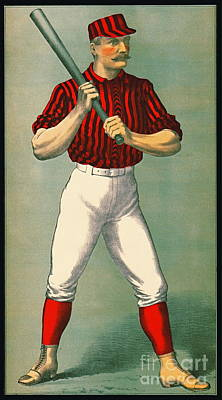 Retro Baseball Game Ad 1885 Crop Poster by Padre Art