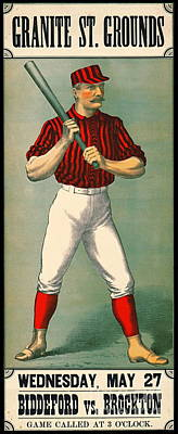 Retro Baseball Game Ad 1885 Poster by Padre Art