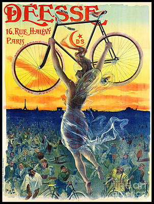 Poster featuring the photograph Retro Bicycle Ad 1898 by Padre Art