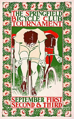 Poster featuring the photograph Retro Bicycle Poster 1895 by Padre Art
