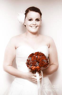 Retro Bride Poster
