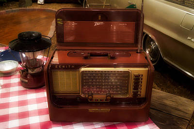 Retro Camping Zenith Portable Radio Poster by Thomas Woolworth