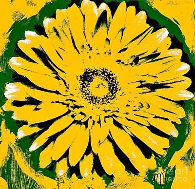 Retro Daisy Poster by Marsha Heiken